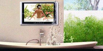 Badezimmer TV | Wasserdichten Fernseher für Badezimmmer und Garten.